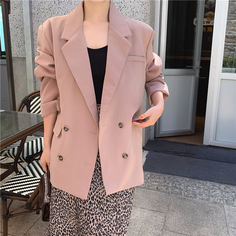 HziriP 2020 Feminine Women High Street All Match Office Lady Slender Work-Wear Chic Thin Vintage Casual Elegant Loose Blazers
