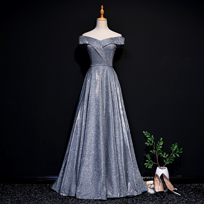 Dress Women's 2019 New Style Autumn Banquet Nobility Elegant Annual General Meeting Party Catwalks Host Slimming Evening Gown