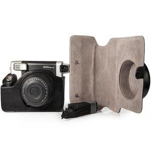 Image 2 - Fujifilm Instax Wide 300 funda para cámara instantánea, bolsa de transporte de cuero PU de calidad, 5 colores Rosa, marrón y negro