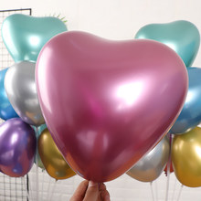 5PCS silver gold Metallic Latex Balloons Pearly Metal balloon Gold Colors Globos Wedding Birthday Party Supplies Balloon@5(China)