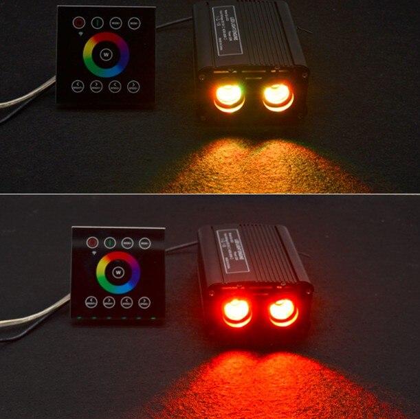1X Hoge Helderheid RGBW LED 32W Glasvezel Dubbele Licht Motor Driver Met 2.4G Draadloze Touch Controller Gratis verzending - 4