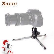 XILETU MT26 + XT15 אלומיניום סגסוגת שולחן עבודה סוגר מיני שולחן חצובה עם כדור ראש עבור DSLR מצלמה ראי מצלמה Smartphone