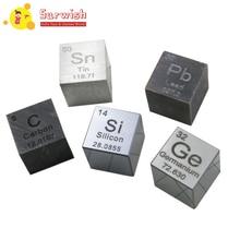 Surwish, 5 шт./лот, 10X10X10 мм, углеродный шелк, германий, stanners, пламбум, куб, таблица, набор элементов, куб