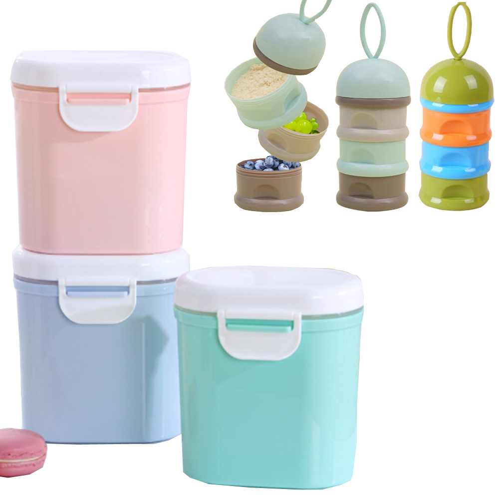 High Capacity Baby Milk Powder Container Melkpoeder Baby Food Snack Storage Box Double Layer Infants Feeding Box For Newborn