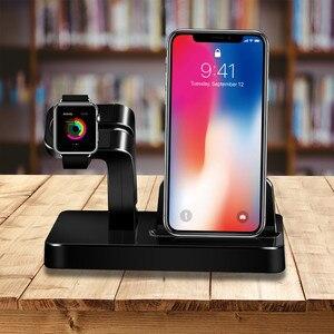 Image 4 - 2In1 Apple için şarj Dock İstasyonu şarj tutucu iPhone 11 pro xs max xr 7 8 cargador inal mbrico chargeur sans fil