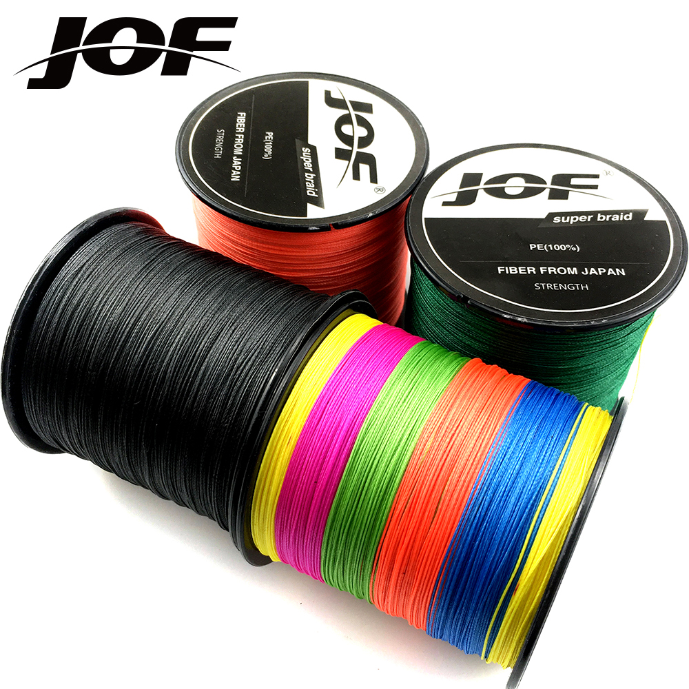 JOF 8 Strands  4 Strands 300M PE Braided Fishing Line Sea Saltwater Carp Fishing Weave Super Strong