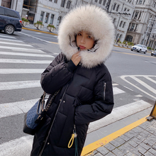 New Winter 2019 Casual Parka Women Sustans Pockets Fur Hooded Wide Waisted Thick X Long Zipper Snow Jackets Coats Plus Size