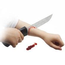 Нож Через руку(кровавый нож) с монстром, кровавая сцена, магические трюки, реквизит, иллюзии, трюк, аксессуары для фокусника