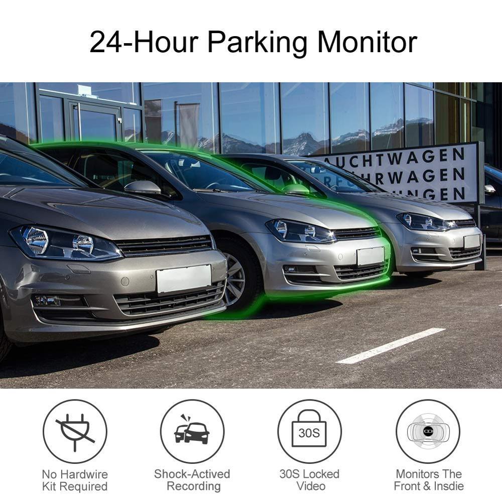 Автомобильный видеорегистратор AKASO Full HD 1080P с двойным объективом 2K Wi Fi с приложением для телефона gps двойной видео цифровой видеорегистратор для автомобиля в комплекте 32 Гб карта - 5