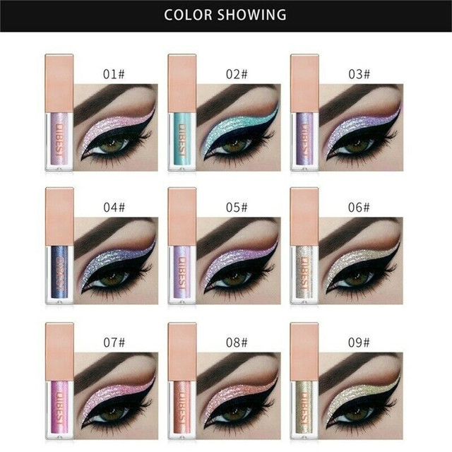 QiBest 15 Colors Glitter Liquid Eyeshadow Waterproof Lasting Shimmer Metallic Easy To Makeup Professional Eye Shimmer Eyeshadow 1