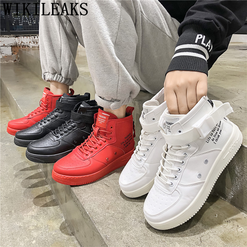 Hip Hop Shoes High Top Sneakers Men Designer Sneakers For Men Fashion Shoes 2020 Black Sneakers Mens Casual Shoes Hot Sale