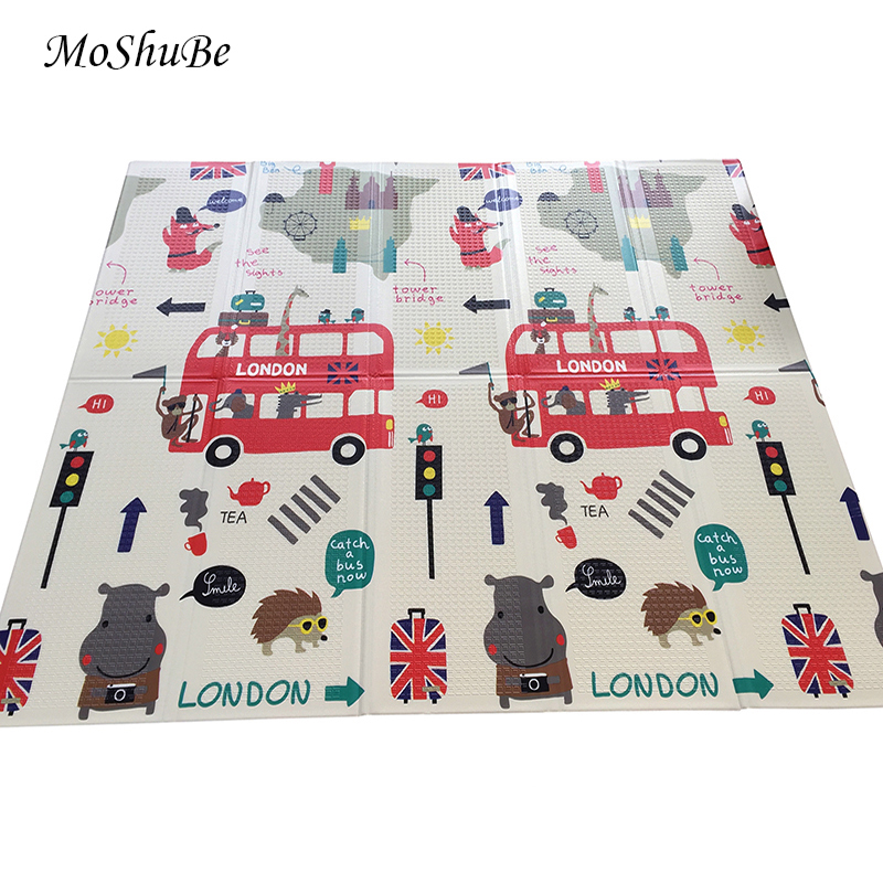 Foldable Baby Developing Mat 1cm Climbing Play Mat Puzzle Children s Mat Thick Baby Room Crawling