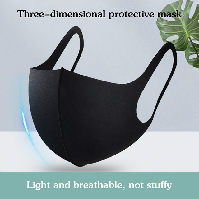 Mask Masks Nano-polyurethane Black  Black Mouth Anti Dust Activated Carbon Windproof Mouth-muffle Bacteria Proof Flu Face Masks