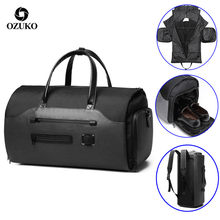 OZUKO Travel Bag Multifunction Men Suit Storage Large Capacity Luggage Handbag Male Waterproof Travel Duffel Bag Shoes Pocket