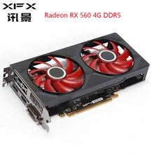 XFX Radeon RX 560 4GB DDR5 Grafiken Karten AMD Grafikkarte 4GB GPU 128 Bit RX560 Gaming PC video Karte Gaming Desktop Verwendet Karte