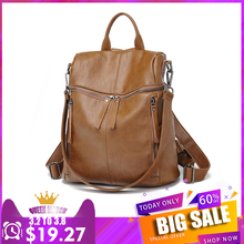 Four Am Women Backpack Purse PU Washed Leather Convertible Ladies Rucksack Heavy Duty Zipper Pocket Shoulder Bag