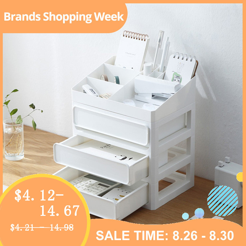 Storage-Box Makeup-Organizer Jewelry Sundries-Container Cosmetic Desktop Bathroom Plastic