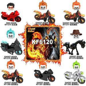 Призрак Райдер с мотоцикл строительные блоки пластиковые цифры для обучения для детей игрушки KF6120