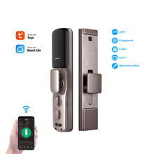 YOHEEN WiFi Smartphone Control Fingerprint Lock Sicherheit Home Elektronische Automatische Digitale Smart Lock mit Tuya Smart Leben App