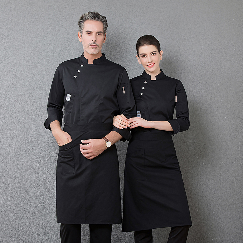 Bakery Cook Tops Shirt Full Sleeve Breathable Unisex Men Women Chef Uniform Worker Clothing Kitchen Restaurant Wear Jacket