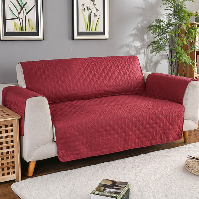 Quilted Anti-wear Sofa Covers for Dogs Pets Kids Anti-Slip Couch Recliner Slipcovers Armchair Furniture Protector 1/2/3 Seater 2