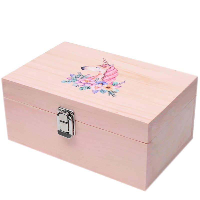 Multi-purpose Hand-made ไม้กล่องหัตถกรรม House สี่เหลี่ยมผืนผ้า Vintage กล่องเครื่องประดับ