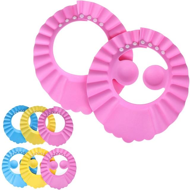 Shampoo Kappe Durable Baby Bad Visier Hut Einstellbar Baby Dusche Schützen Auge Wasser-proof Haar Waschen Schild Für Infant