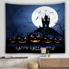 Halloween Series Wall Cloth Tapestries  Trick Treat Horror Ghost Printed Hanging Tapestry Grand Tablecloth Party Decoration