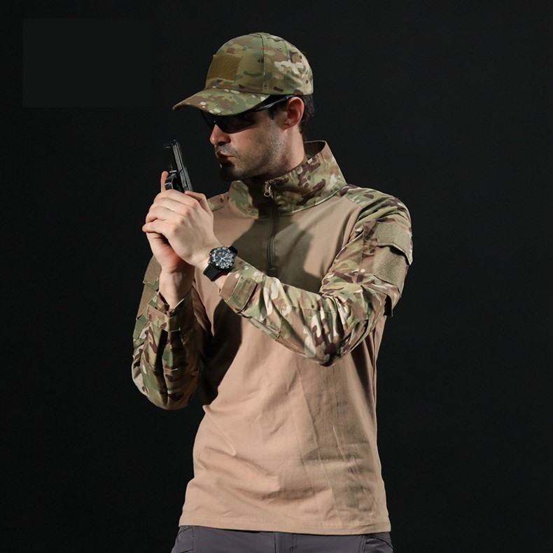 Hcc5d62b728d14fdf94e38c5221485f4f9 - Men Outdoor Tactical Military Hiking T-Shirts Male Army Camouflage Long Sleeve Sports Shirt Breathable Hunting Fishing Clothes