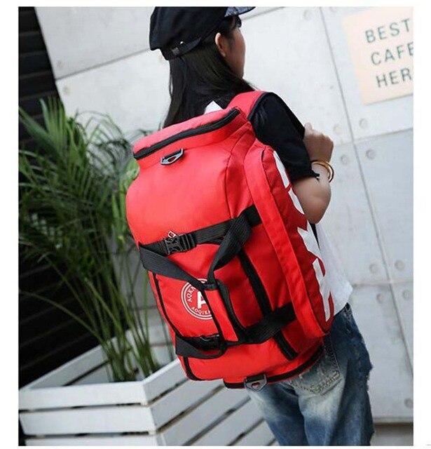 New Sport Gym Bag Men Women Outdoor Waterproof Backpack Separate Space For Shoes Handle Bag 5
