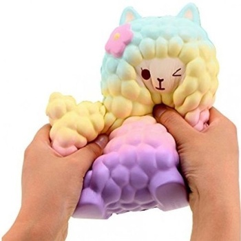 Jumbo Sheep Squishy Cute Alpaca Galaxy Decompression Toys Super Slow Rising Scented Fun Occur Animal Toys jumbo squishy french fries chips slow rising