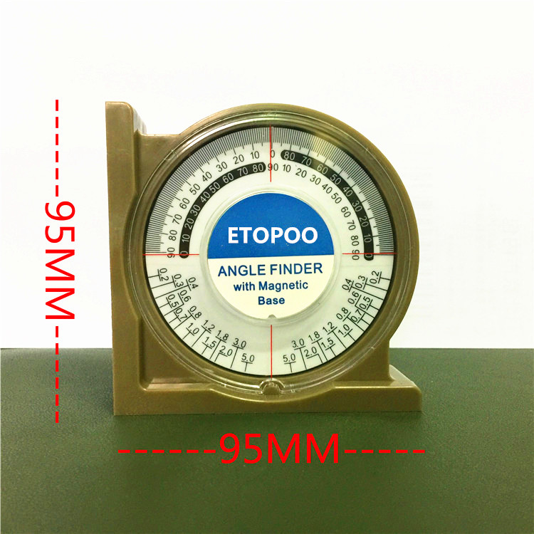 perfk Slope Inclinometer Angle Finder Protractor Level Meter Clinometer Gauge Magnetic
