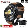 LEMFO LEM12 PRO Smart Uhr Android 10,0 Drahtlose Projektion 4G + 64G Gesicht ID Dual Kameras GPS Mit bank Power Smartwatch Männer