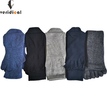 VERIDICAL 5 Pairs/Lot Five Fingers Socks Long Cotton Good Guality Colorful CompressionSock With Toes Cheap Business Calcetines - discount item  50% OFF Men's Socks