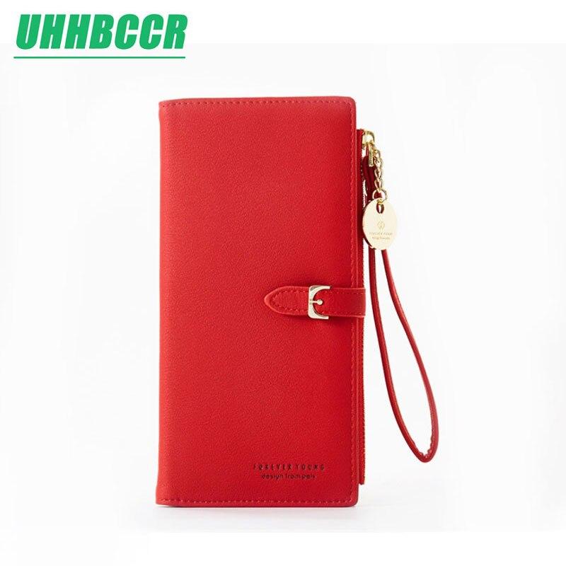 2019 Women's Wallet Long PU Red Wallet Porte Feuille Femme Female Purse Clutch Money Woman Wallet Billetera Mujer Carteras