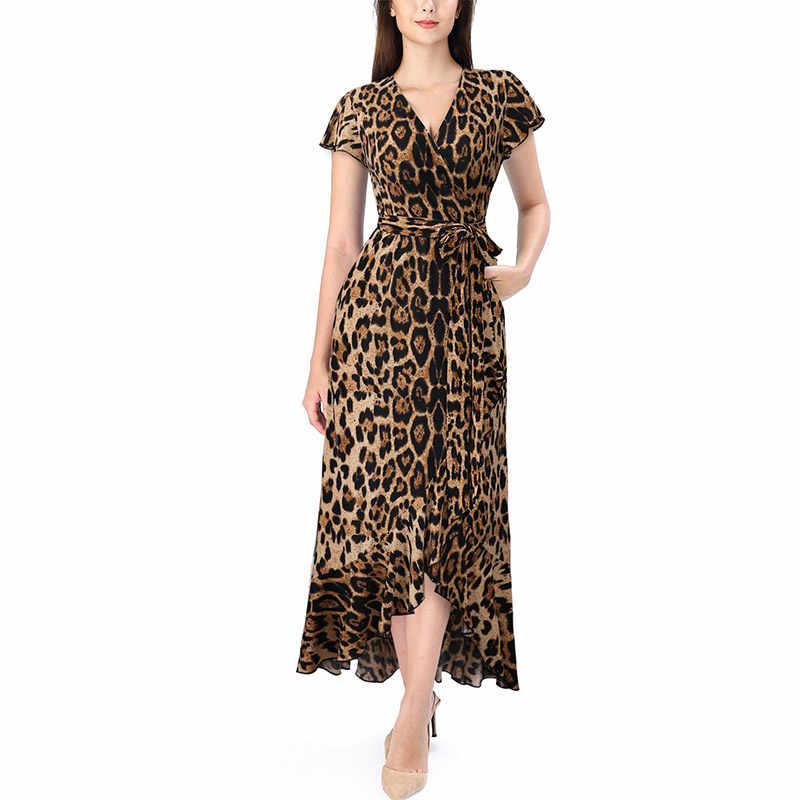 Vfemage, женские бархатные леопардовые, в горошек, с оборками, с карманами, с поясом, с разрезом, высокая низкая, повседневное, официальное, для вечеринки, длинное платье макси 079