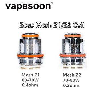 5pcs Zeus Mesh Z1 0.4ohm & Z2 0.2ohm Coil Replacement Vape Core for Geekvape Zeus Sub Ohm Tank Atomizer катушка индуктивности jantzen air core wire coil 0 50 mm 0 46 mh 1 ohm 1197