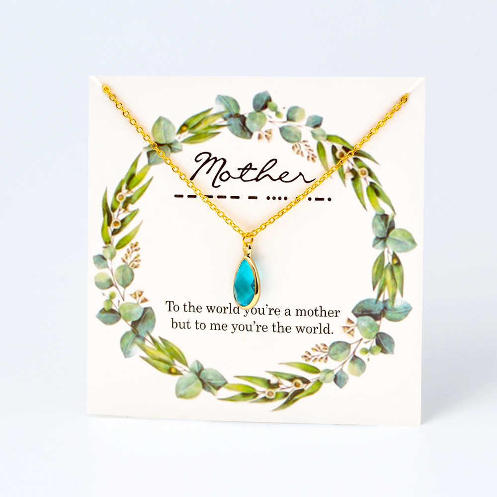 MEIBEADS 1pc אופנה מאחל כרטיס אבן המזל קסמי שרשראות תליוני Fit נשים הצהרת קולר תליוני שרשרת תכשיטים