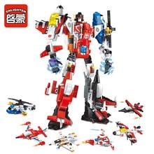 6 In 1 Mecha Robot Transform Helicopter Aircraft Building Blocks Kit Bricks Toys Legoingly Gifts For Children 506pcs цены