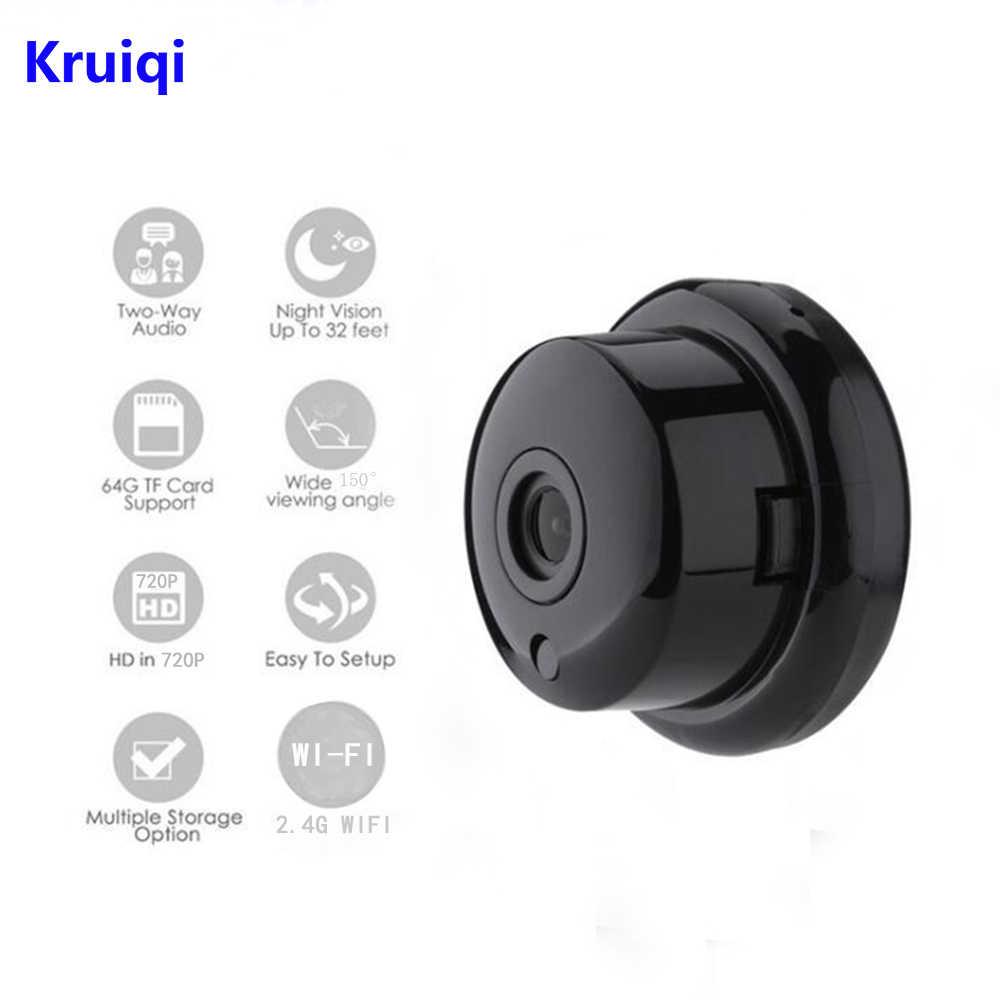 Kruiqi 720P Camera Mini Không Dây 2.4G Wifi Hỗ Trợ Camera Xem Qua Điện Thoại Di Động Phát Hiện Chuyển Động Và Báo Động Wifi Lên đến 64G Ứng Dụng Yoosee