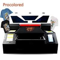 Procolor 새로운 섬유 DTG 프린터 A3 인쇄 크기 T 셔츠 의류 청바지 Tshirt 인쇄 기계 의류 A4 평판 프린터