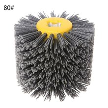 Abrasive Wire Drawing Round Brush Head Polishing Grinding To