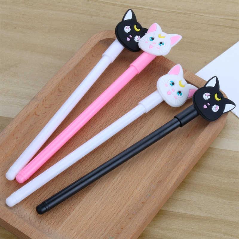 Anime Thủy Thủ Mặt Trăng Luna Mèo Cosplay Hoạt Hình Dễ Thương Mèo Hồng Viết Tranh Bút Dụng Cụ Văn Phòng Phẩm Cô Gái Sinh Viên 0.5 Mm Gel bút Đạo Cụ