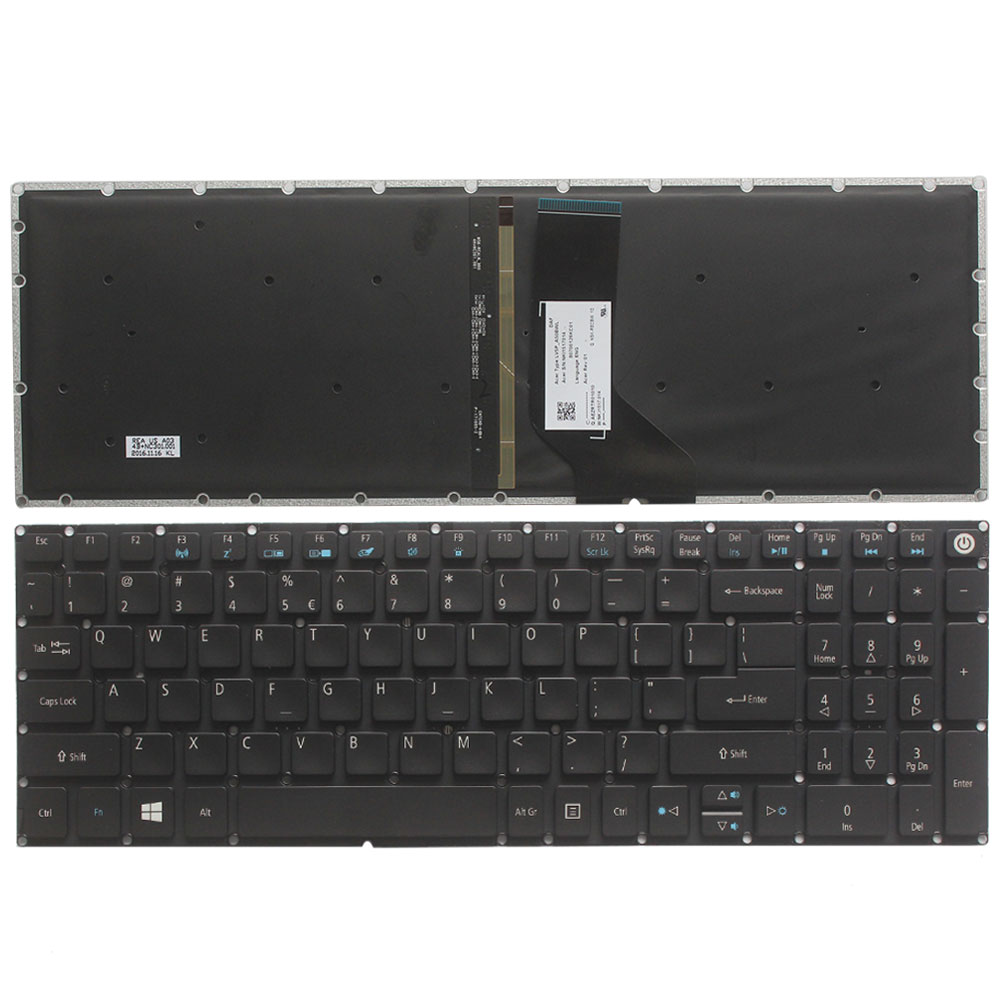 NEW US Laptop Keyboard For ACER Aspire 5 A517 A517-51-5832 A515 A515-51 A515-51G US Black Keyboard Backlit