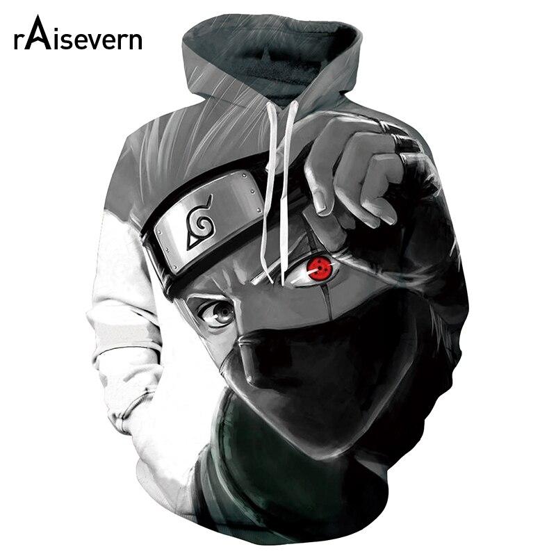 Naruto 3D Hatake Kakashi Hoodies Men Women Casual Autumn Sweatshirts Fashion Hooded Anime Naruto 3D Hoodies Unisex Clothe