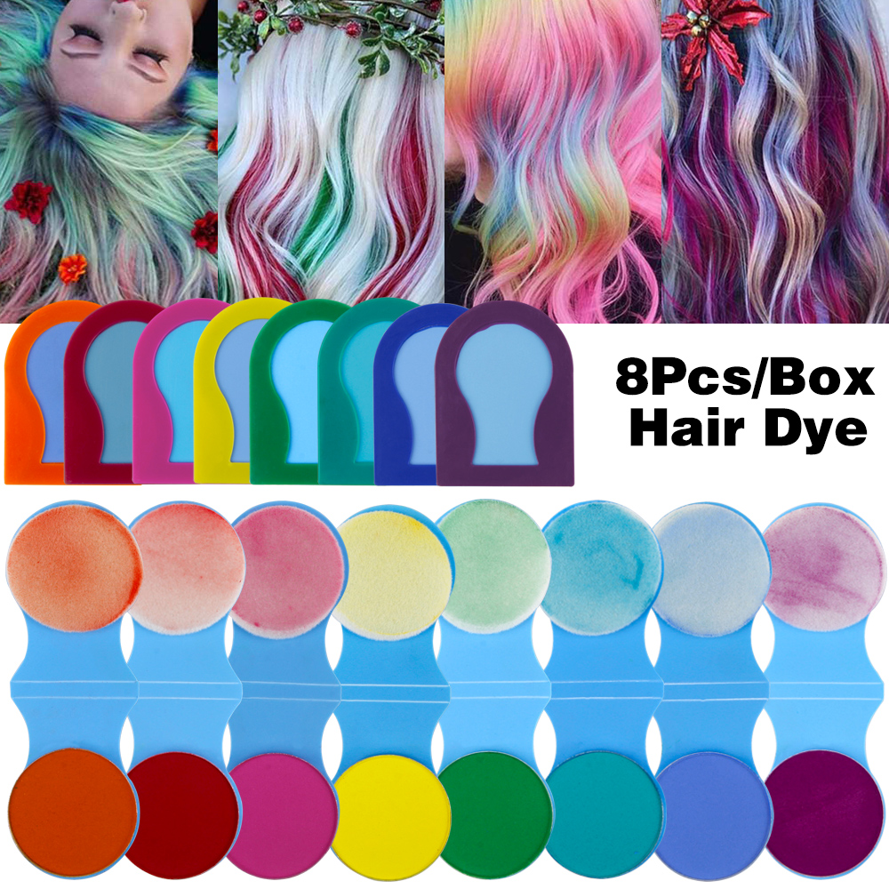 8 Colors Hair Chalks Powder DIY Temporary Women Hair Color Pastels Salon Styling Tool Portable Paint Beauty Dye Styling Accessor 3