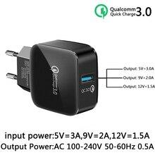 Novo QC 3.0Hz 50 60 USB móvel carregador Rápido de carga rápida Para iPhone Samsung Huawei Xiaomi HTC LG carregador Do Telefone móvel
