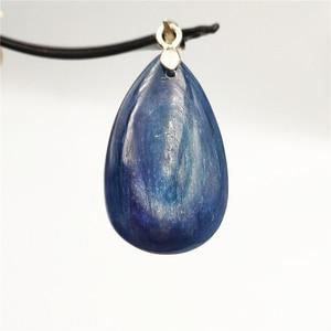 Image 4 - Natürliche Blau Kyanit Katze Auge Wirkung Halskette Anhänger Glück 925 Silber Frauen Männer Liebe Jahrestag Geschenk Mode Anhänger AAAAA