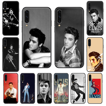 Elvis Presley Phone case For Samsung Galaxy A 3 5 8 9 10 20 30 40 50 70 E S Plus 2016 2017 2018 2019 black fashion shell soft image
