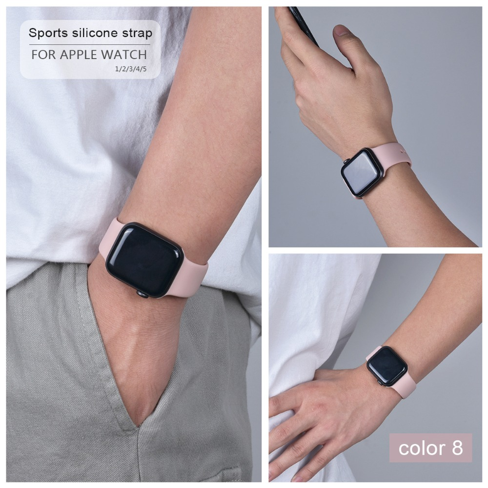 Soft Silicone Band for Apple Watch 95